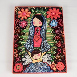 Cuadro colorido de Virgen Maria 2