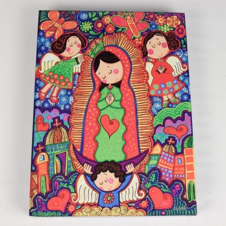 Cuadro colorido de Virgen Maria 4