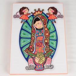 Cuadro colorido de Virgen Maria 8
