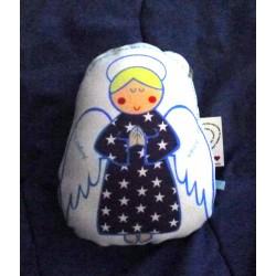 Almohadón Angel chico, azul, nene