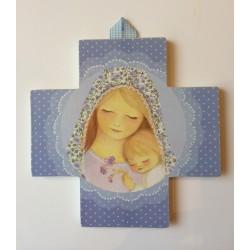Cruz Virgen con Niño azul, 2