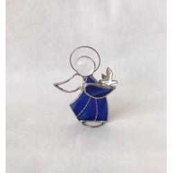 Ángel de vidrio, azul, 1.
