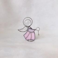 Ángel de vidrio, rosa, 2.