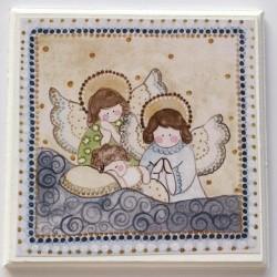 Cuadro estampa angelito celeste.