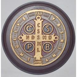 Medallon San Benito 17cm