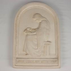 Imágenes tabla Virgen con niño 1 de cemento