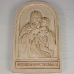 Imágenes tabla Virgen con niño 4 de cemento