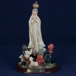 Virgen de Fátima con pastores, 20cm (resina)