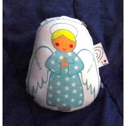 Almohadon Angel chico, celeste, nene