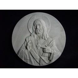 Medallón Sagrado Corazón, cemento