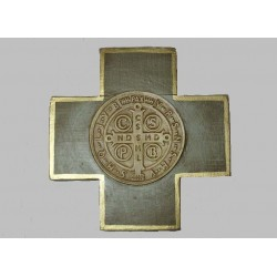 Cruz Cuadrado con San Benito Abad Celeste