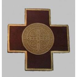 Cruz Cuadrado con San Benito Abad Bordo