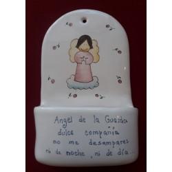 Pila cerámica 2, con angelito rosa.